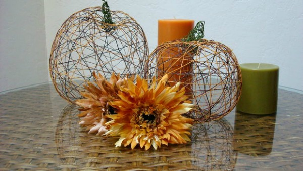 Yarn pumpkins from instuctables.com