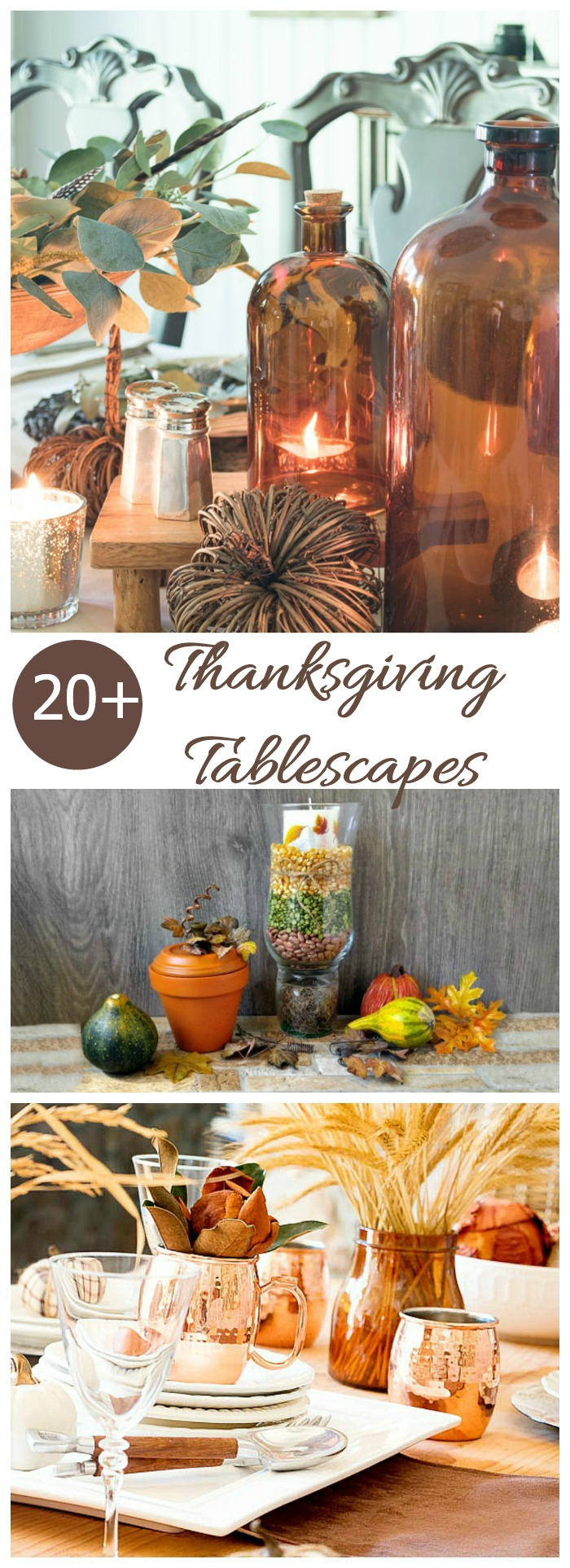 Thanksgiving Tablescapes - DIY Easy Thanksgiving Table IdeasThanksgiving