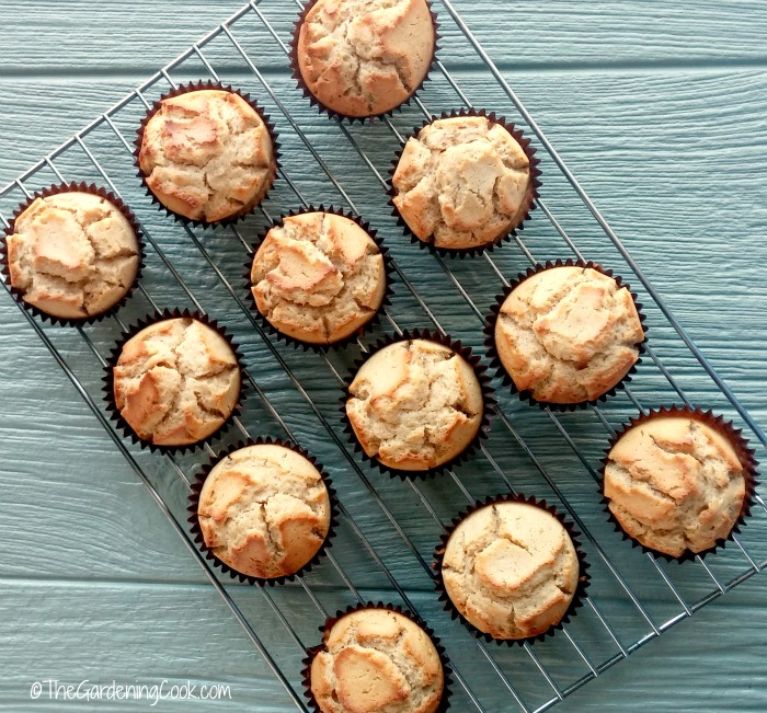 Cooked eggnog muffins