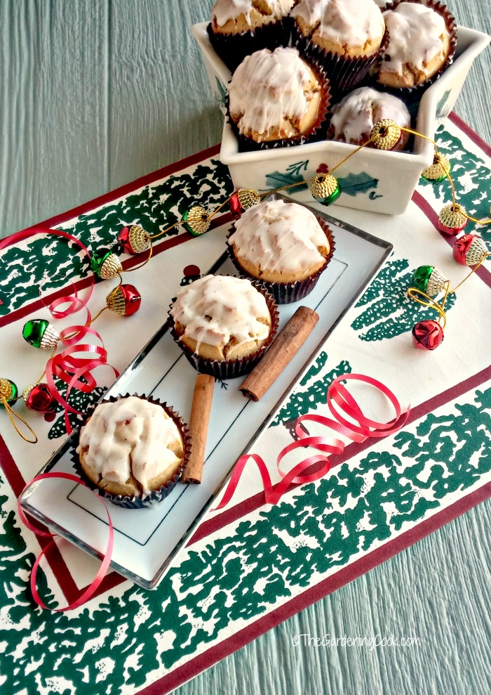 Glazed eggnog muffins are perfect for any holiday brunch or breakfast