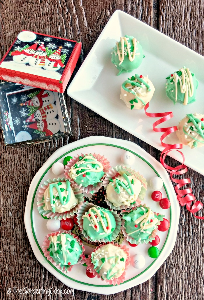 These Funfetti® peppermint chocolate truffles are the perfect bite to finish any holiday meal. They are easy to make and make great homemade Christmas gifts.