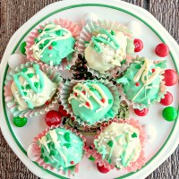 These Funfetti® peppermint chocolate truffles are the perfect bite to finish any holiday meal. They are easy to make and taste just delicious.