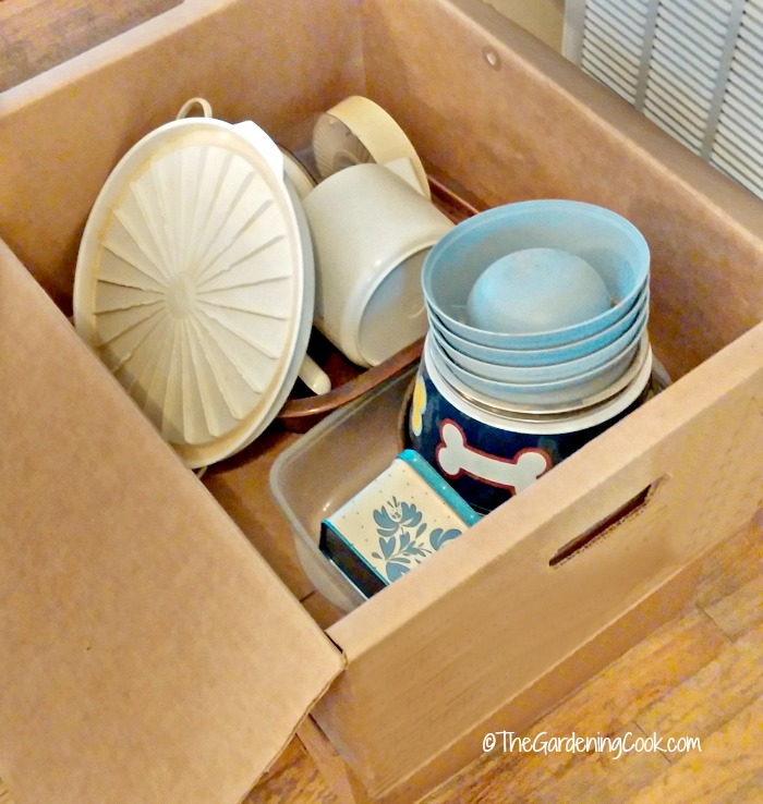 Keep a goodwill box handy for good organizing