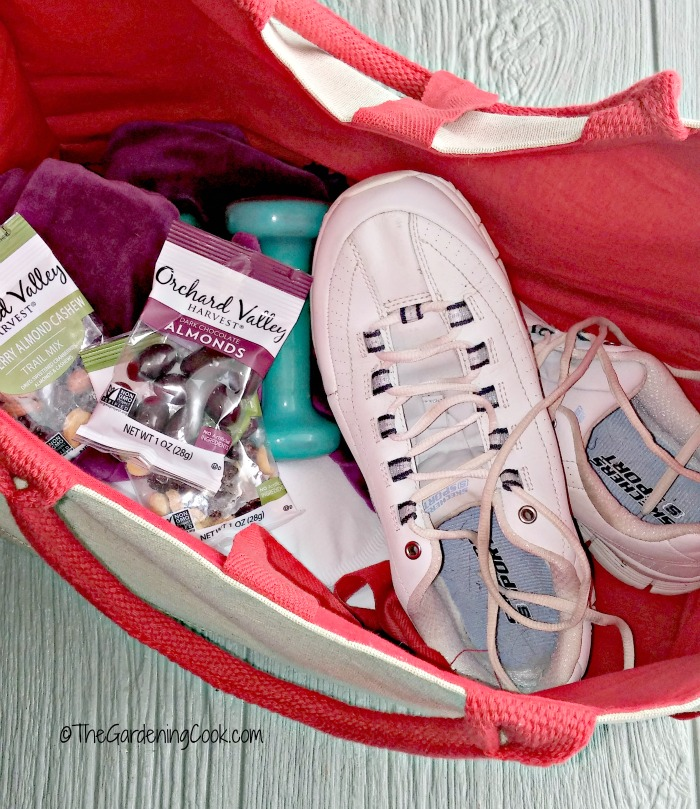 have a gym bag ready so you won't have excuses not to exercise