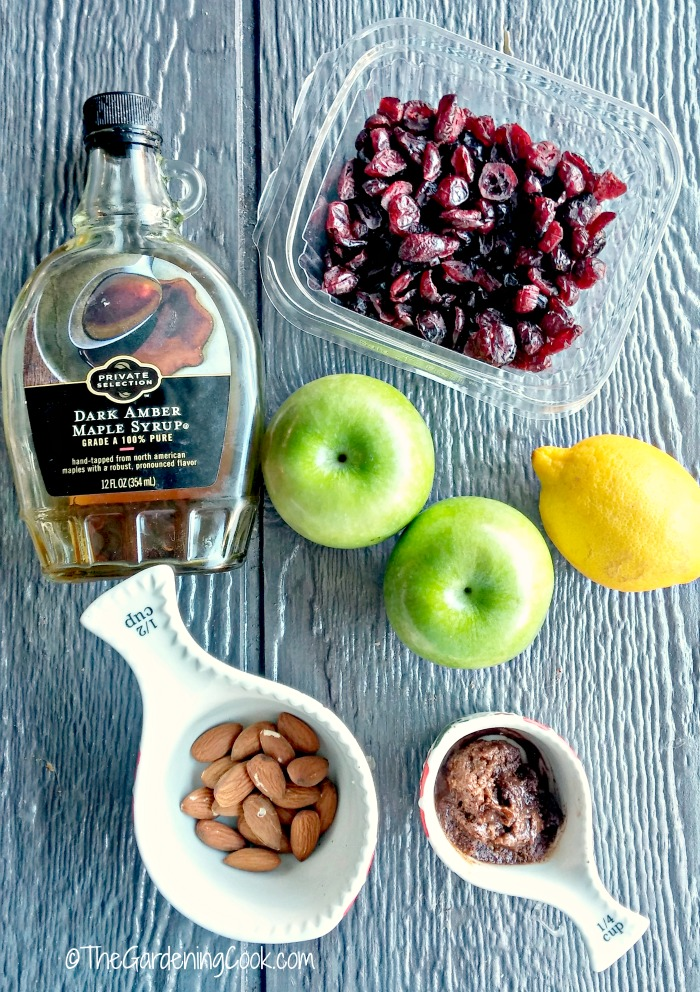 Ingredients for my Paleo Nutella Cranberry Baked Apples