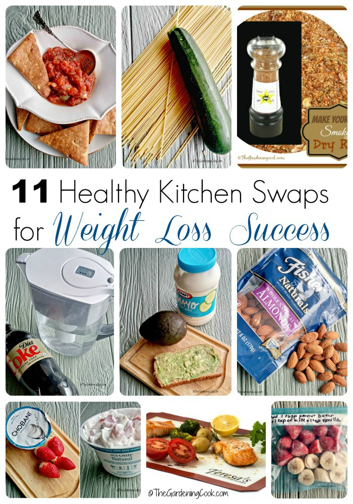 "Trying to shed a few pounds this year? Don't diet. Instead think ""swap"". These 10 healthy kitchen swaps can be used all year round to make losing weight much easier - thegardneingcook.com"