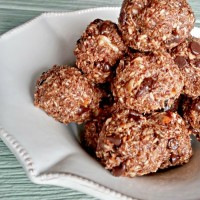 Paleo espresso chocolate hazelnut energy bites.