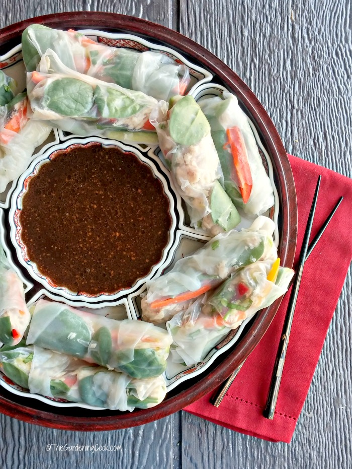 Albacore tuna rice paper spring rolls make the perfect party appetizer