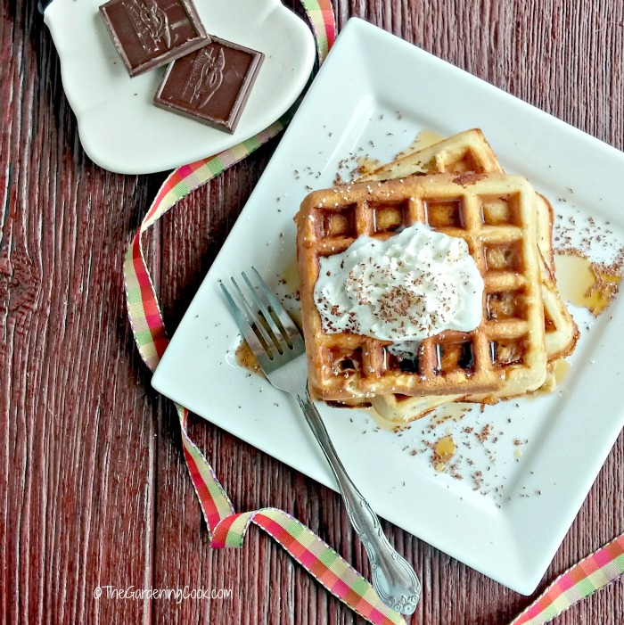 Peanut butter Belgian Waffles