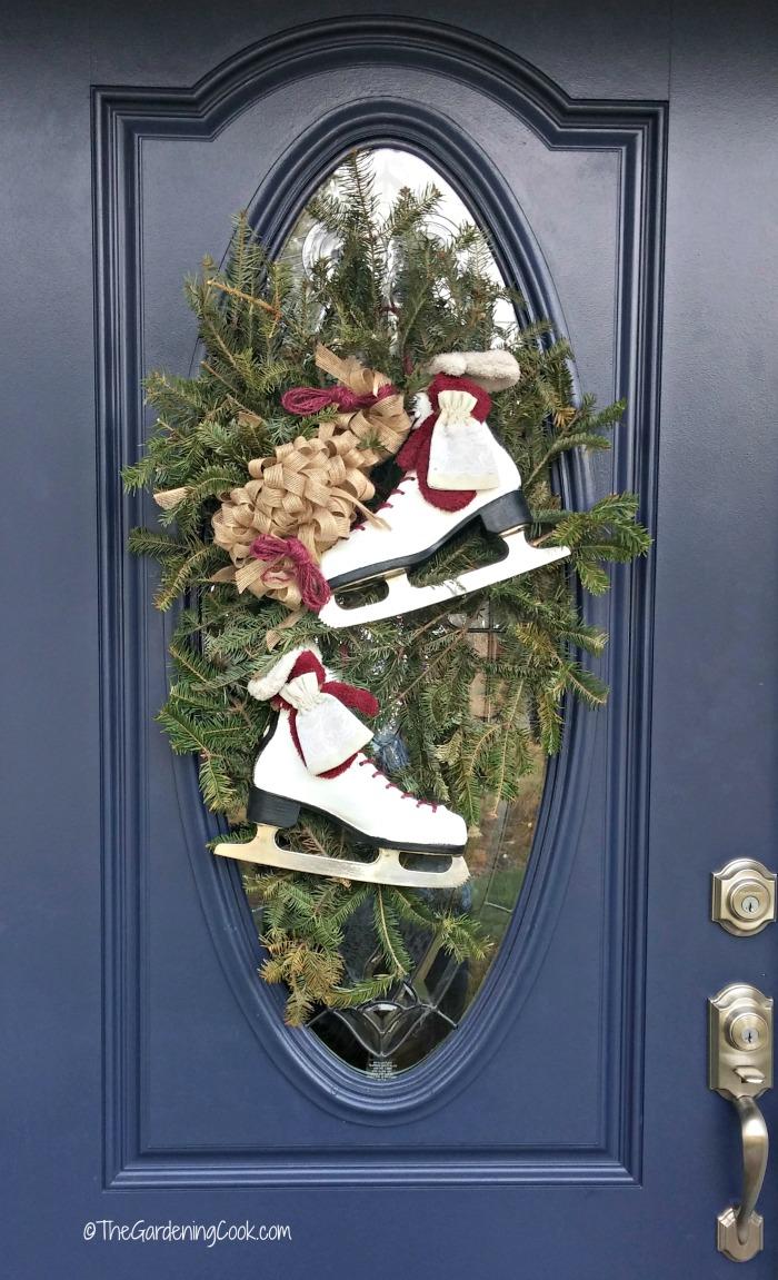Winter door swag makeover