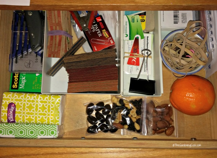 Keep some healthy options in your desk for on the go times.