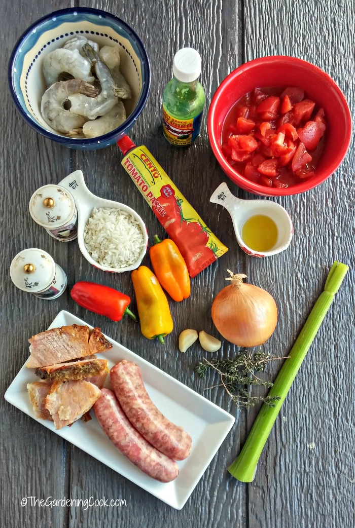 ingredients for crock pot jambalaya