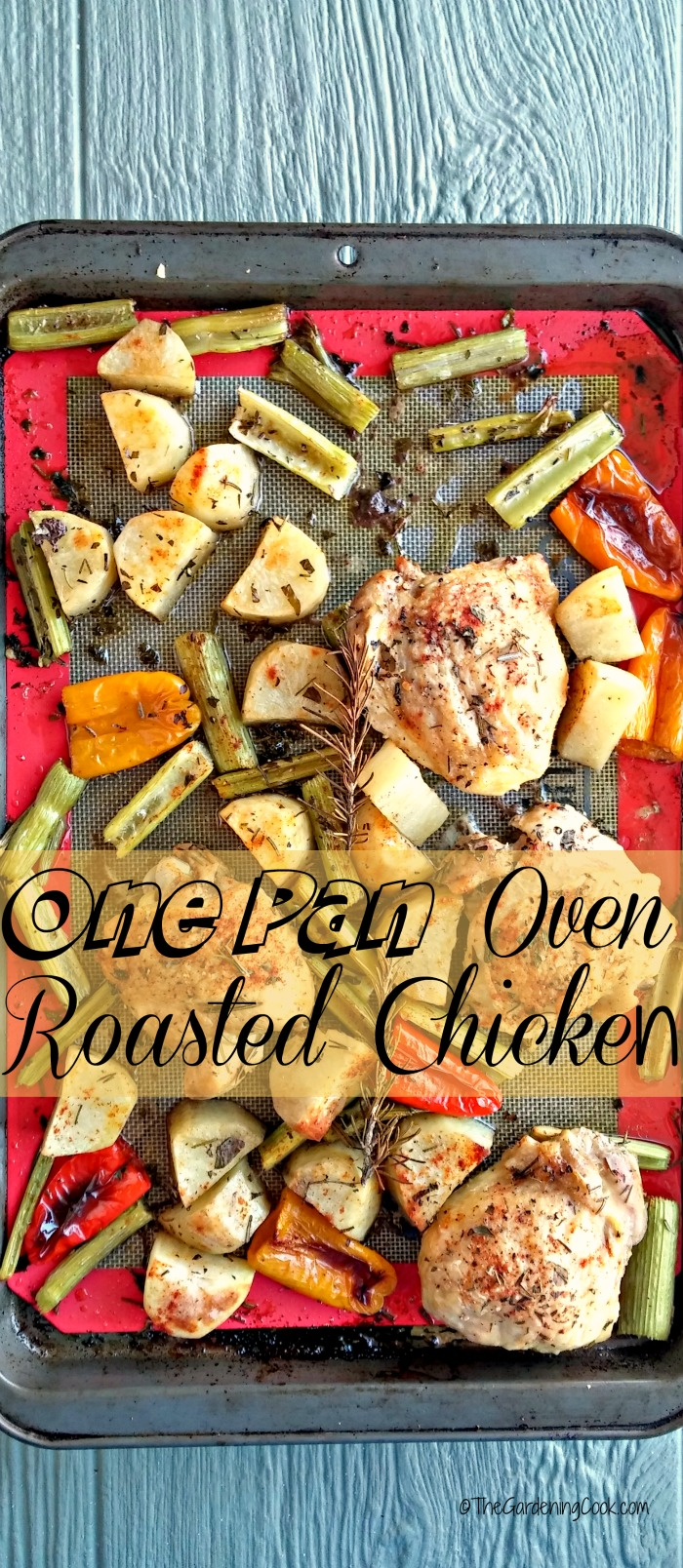 This One pan roast chicken is super easy to make and also to clean up after. The whole meal is really delicious! thegardeningcook.com
