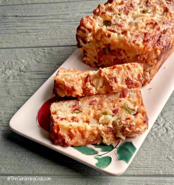 Slices of Bacon jalapeno cheese bread
