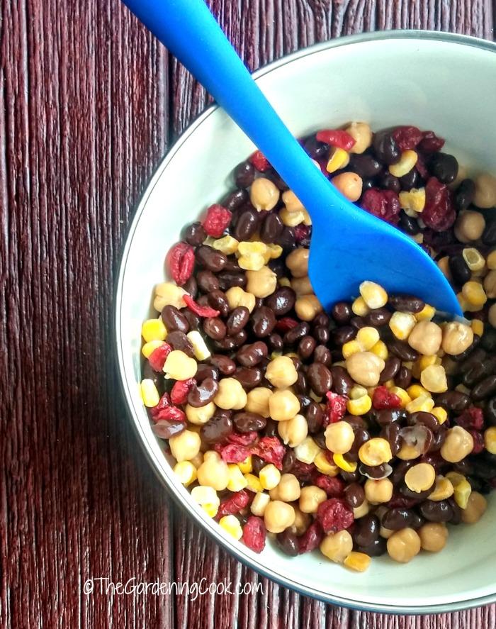 Mediterranean bean & chickpea salad.