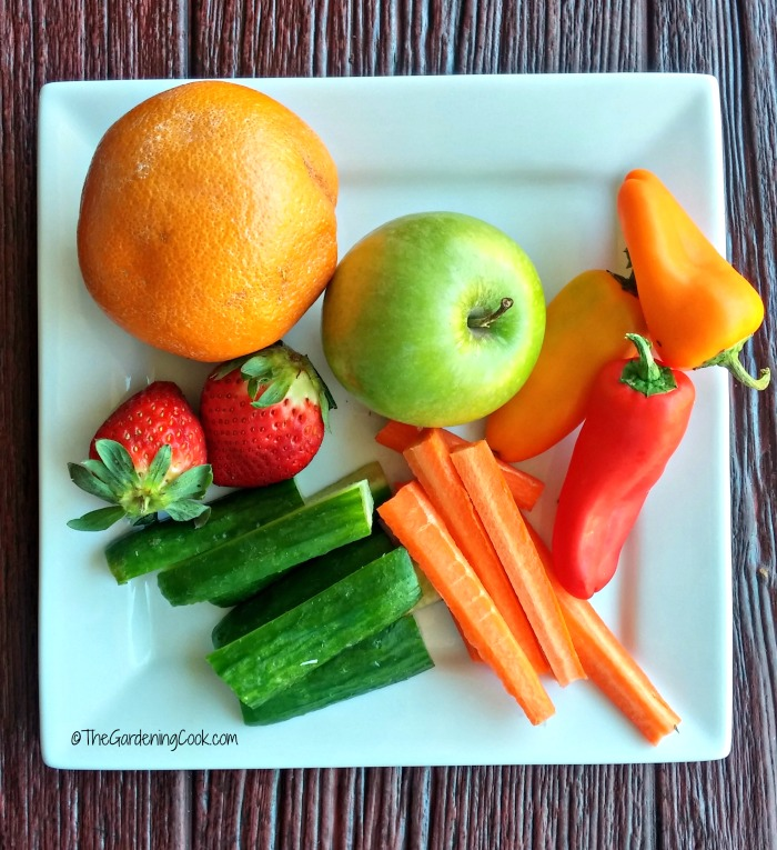 Add fruits and vegetables to your lunch meals