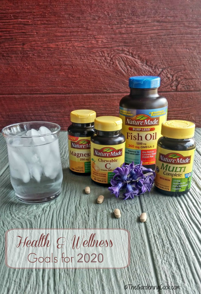 Vitamins and daily water are important to your health and wellness goals for 2020