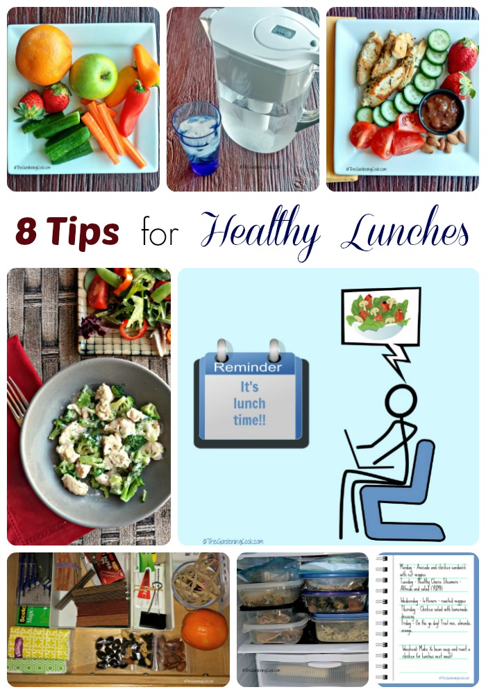 If you are a busy person, you will know how easy it is to just grab something at lunch. But these 8 tips will give you a nicer lunch and go a long way towards making lunch time healthy. thegardeningcook.com #LiveHealthyChoice #ad