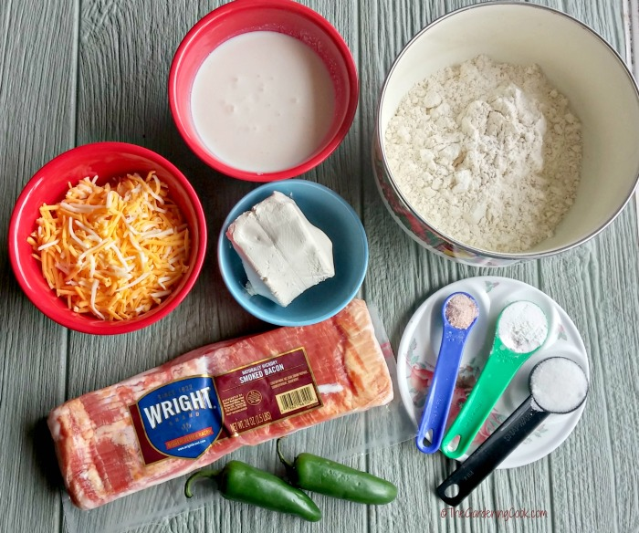 ingredients for Bacon jalapeno cheese bread