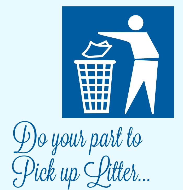 Pick up litter on a walk with your kids.