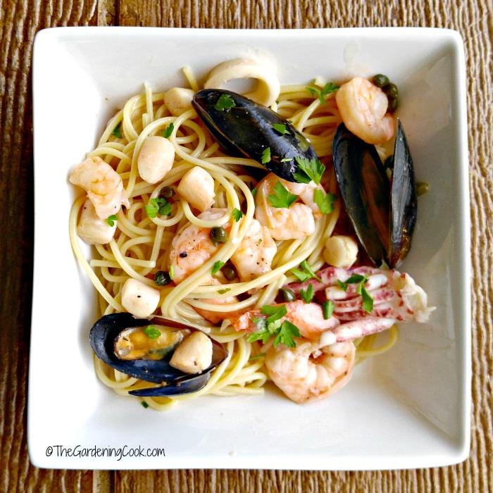 Light seafood piccata