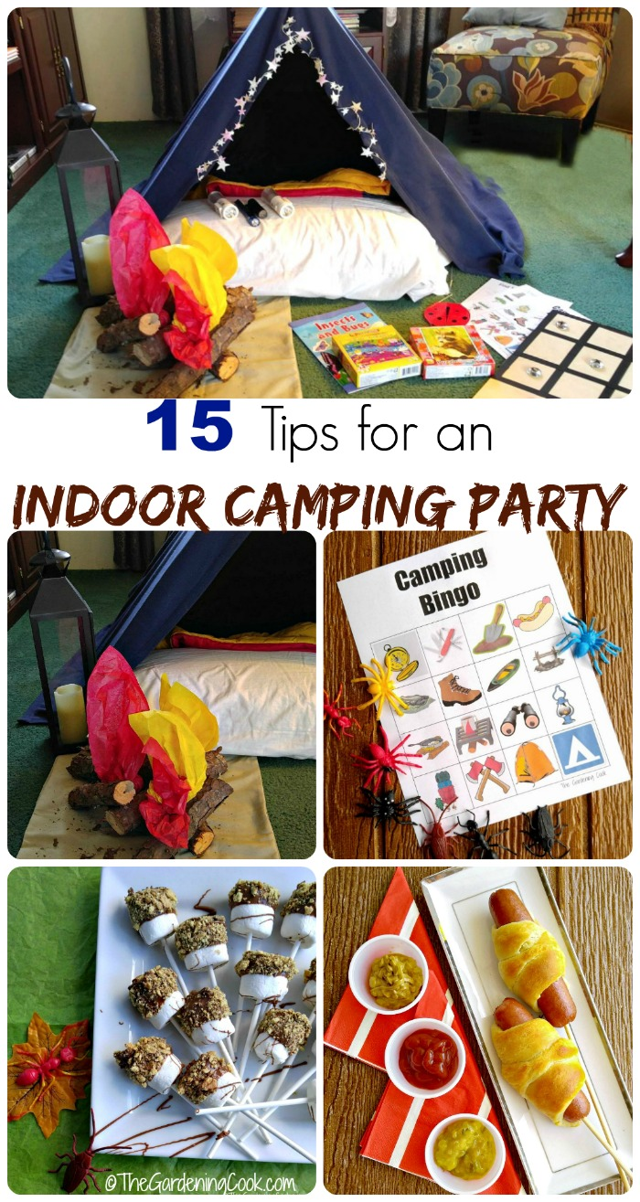 These 15 tips for an indoor camping party will have your children squealing with glee.
