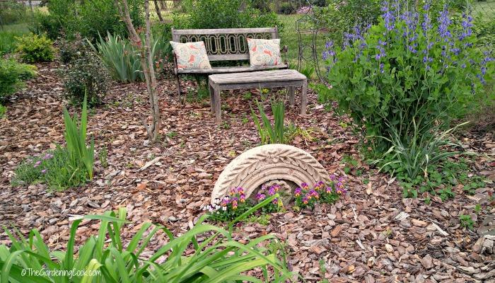 Back yard garden setting