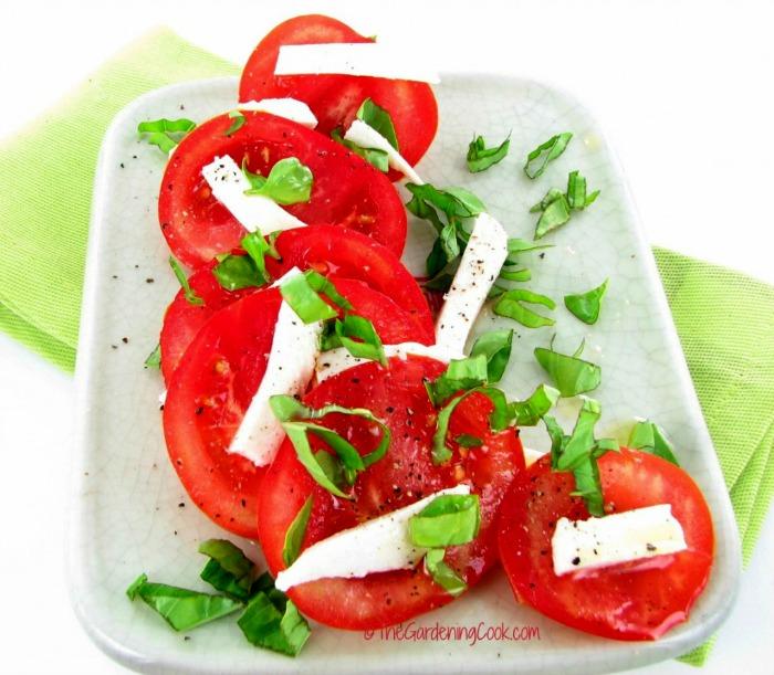 Caprese basil tomato salad