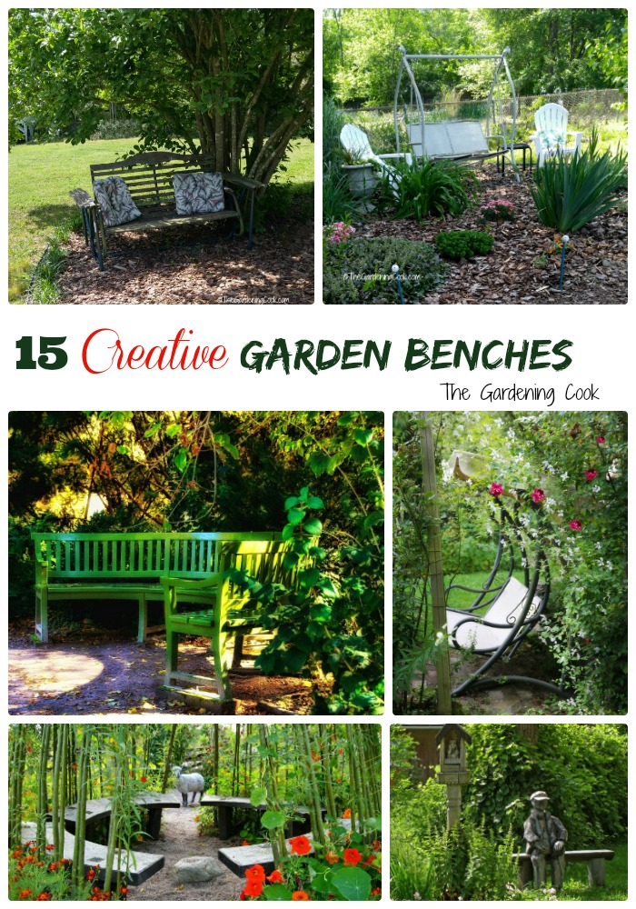 creative garden benches