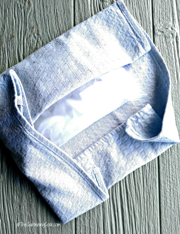 Use a home made ice pack to ease inflammation.