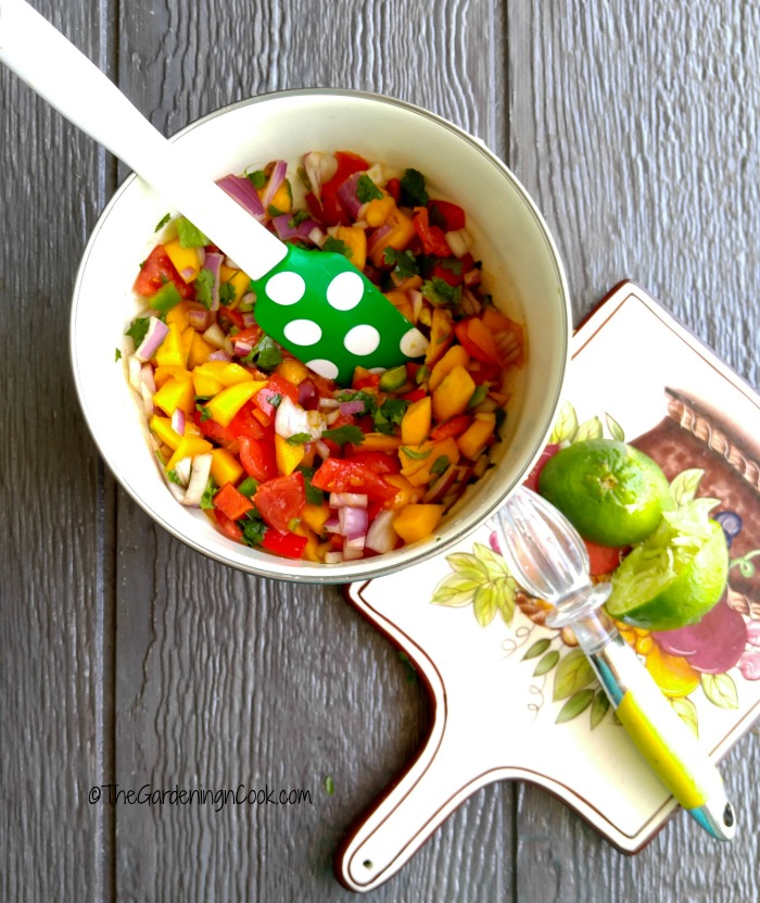 Combine everything for a great tasting mango salsa