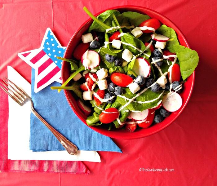 Patriotic Garden Salad