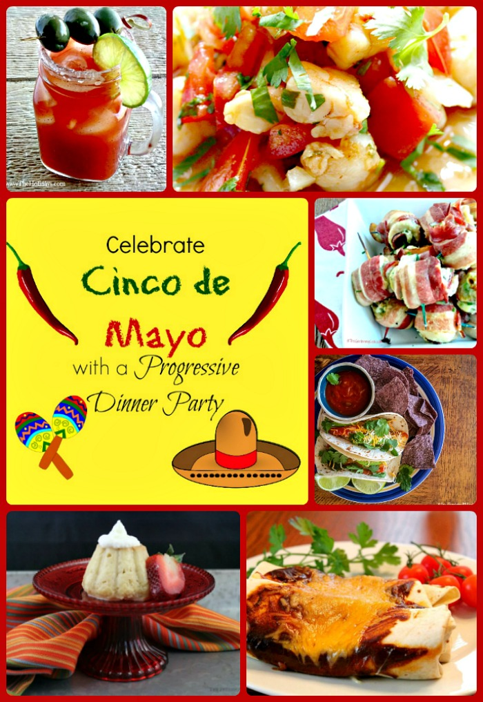 This Cinco de Mayo progressive dinner party is the perfect way to celebrate the occasion. thegardeningcook.com