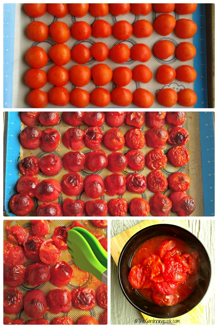 Roasting the tomatoes