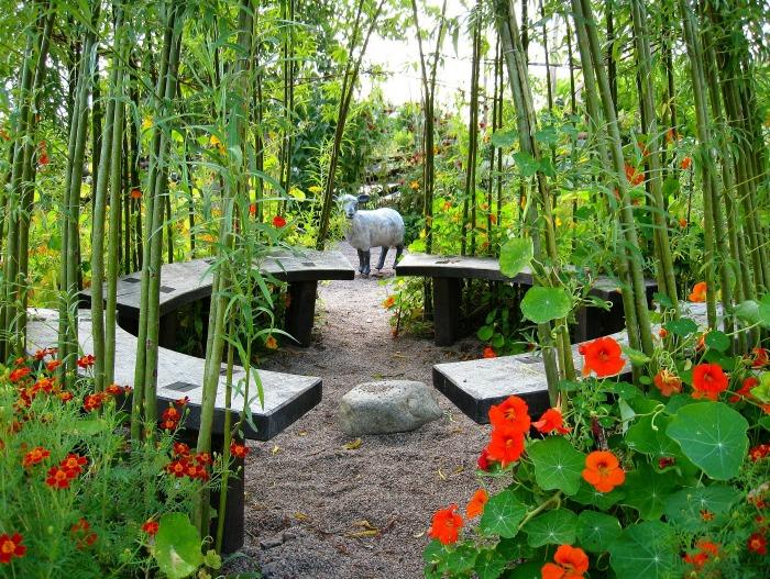 Zen garden benches