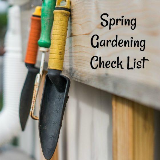 Spring gardening Check list