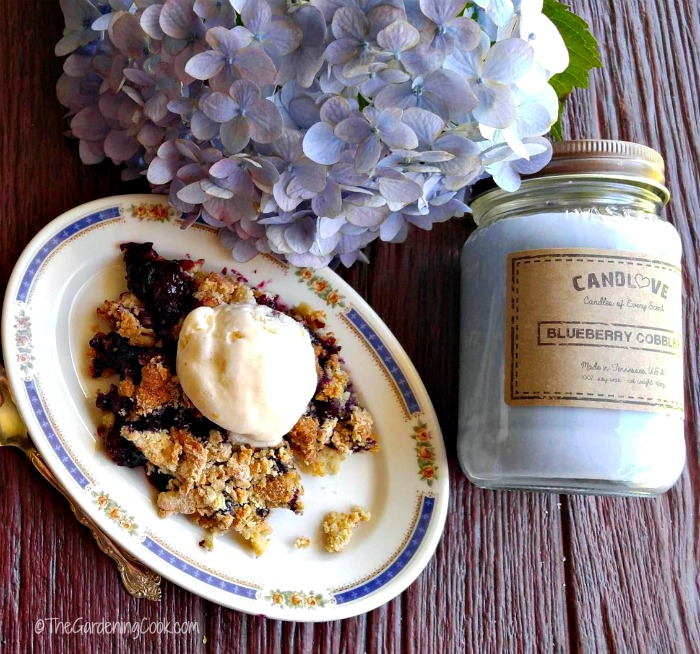 This blueberry cobbler is the perfect summer time dessert. Candlove makes a blueberry cobbler candle too!