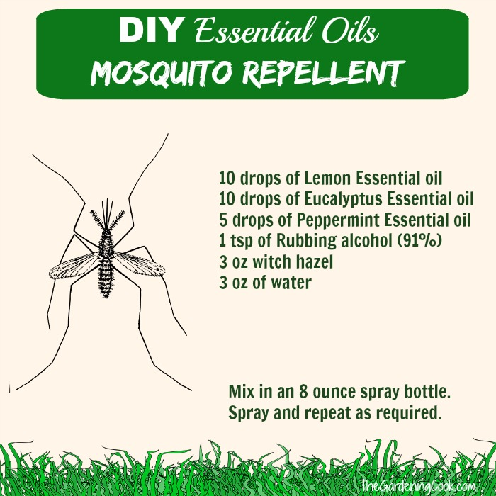 DIY essential oils mosquito repellent thegardeningcook.com #StimulateTheSenses Ead