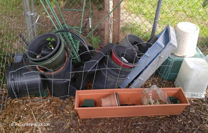 This pile of pots is the perfect spot for some fire ants