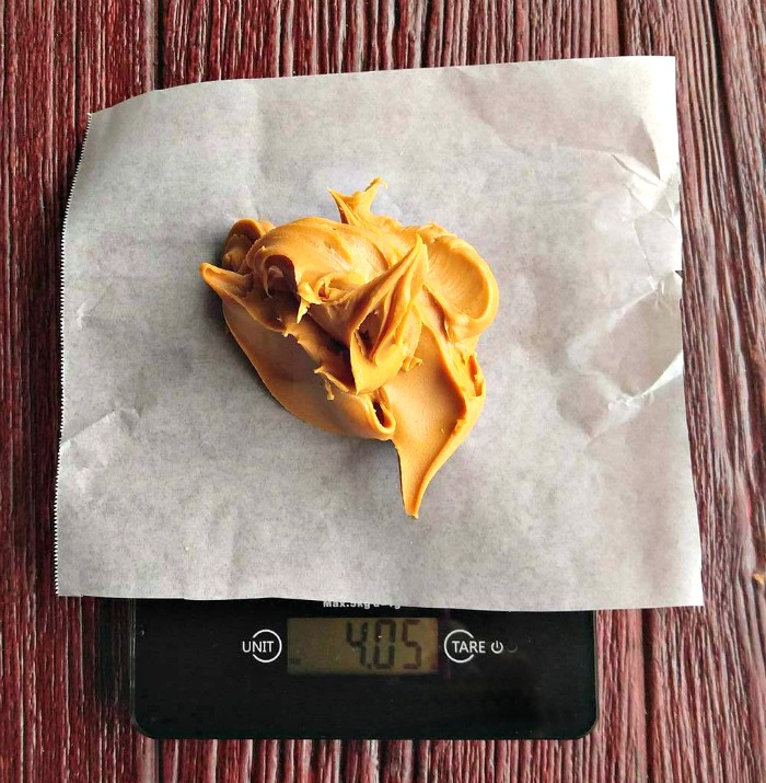 Measure sticky ingredients on parchment paper