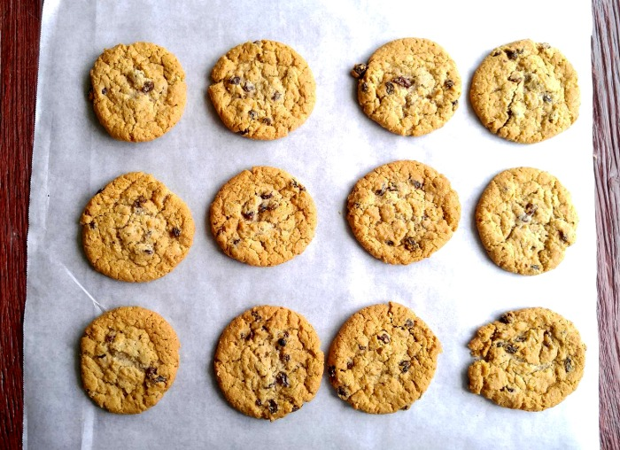 use parchment paper to allow your cookies to cool if you don't have enough baking racks.