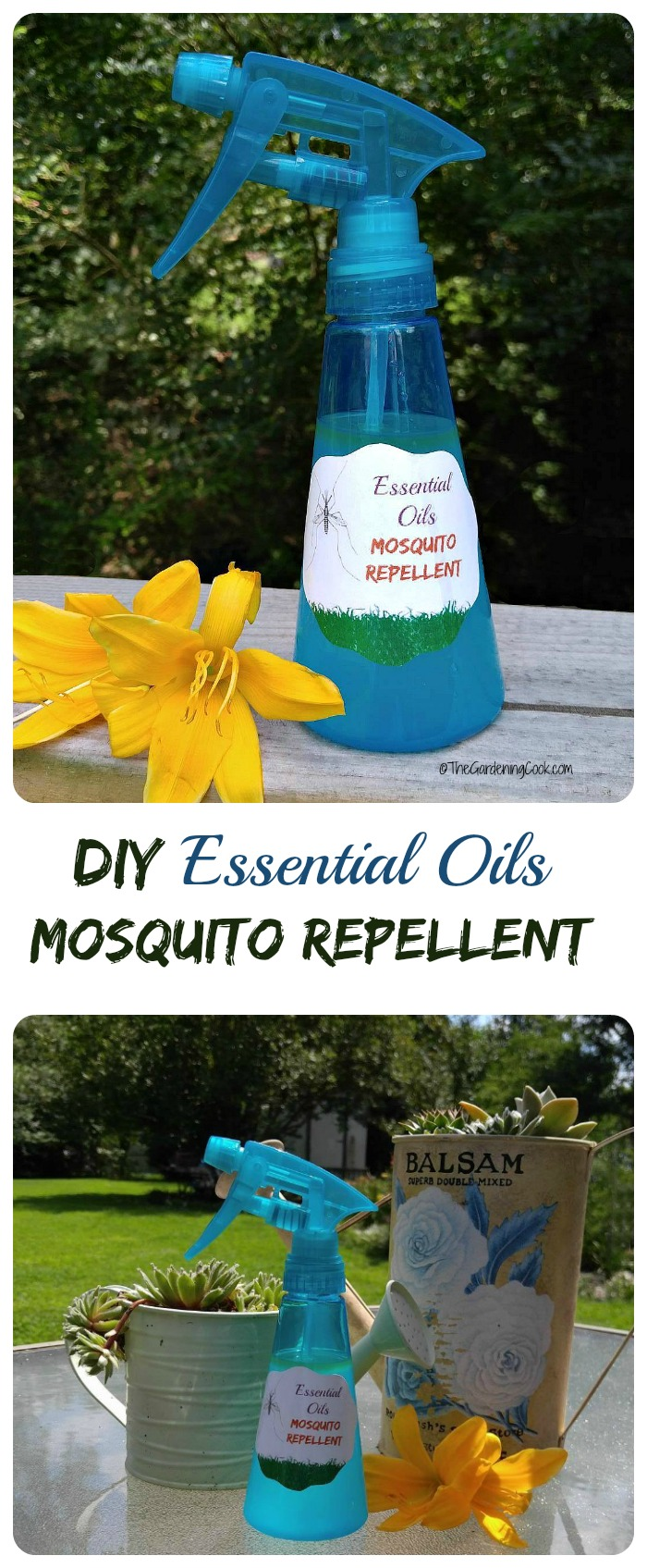 This Effective DIY Mosquito Repellent Spray Uses Essential Oils   Includes  FREE PRINTABLE For Bottle