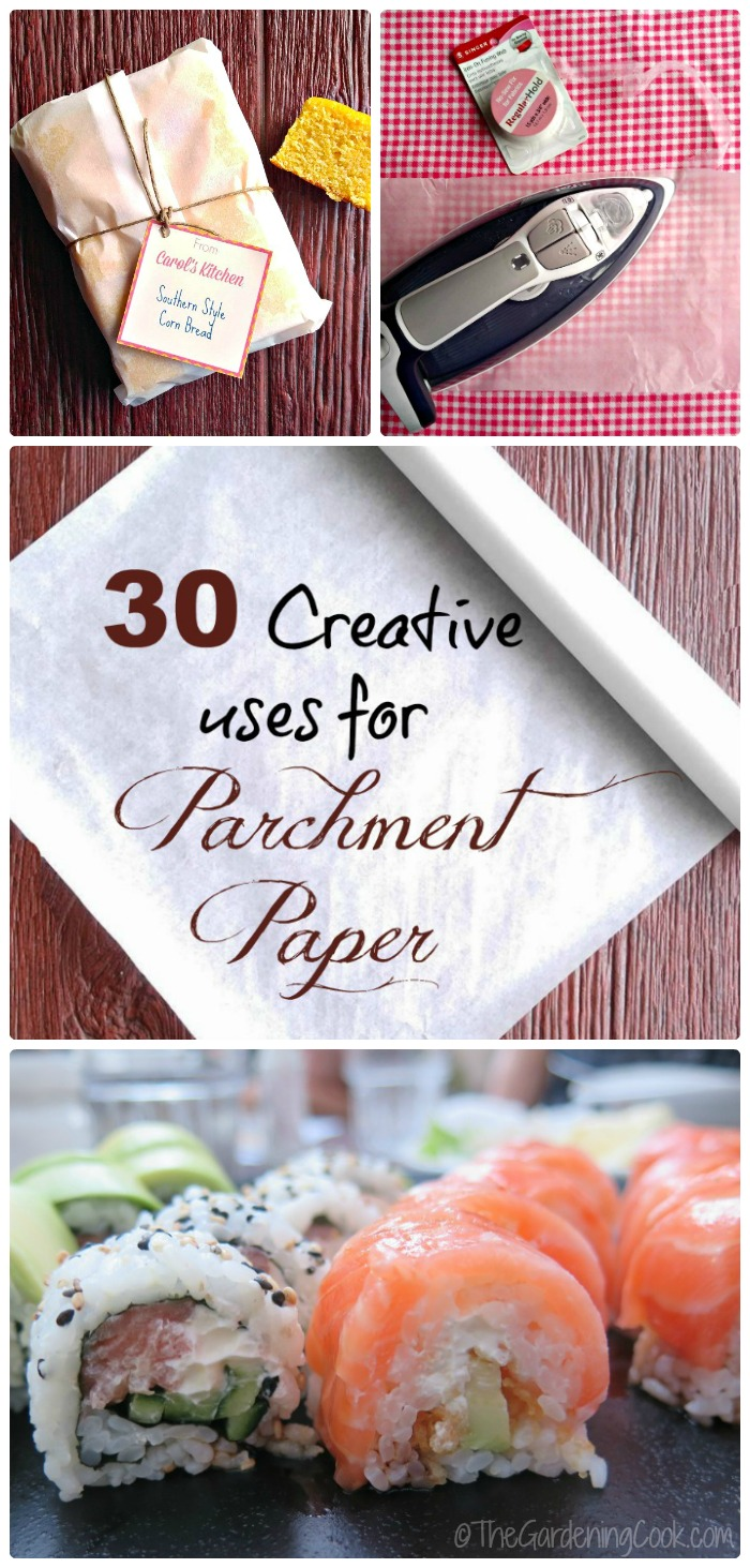 Creative uses for parchment paper in creative ways in the oven, kitchen and around the home.