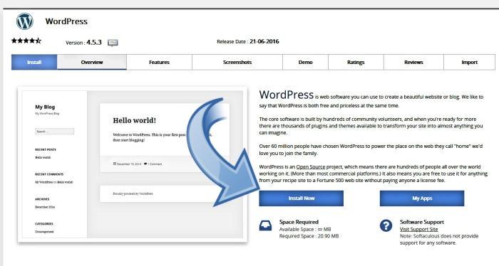 Step 1 installing WordPress