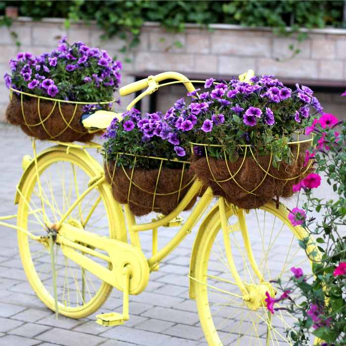 Who Has Hanging Flower Baskets On Sale : Garden art creative ideas by recycling the gardening cook