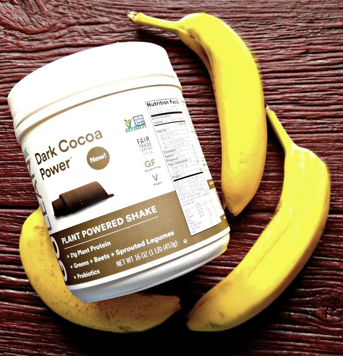 Kasha GoLean plant powered shake and bananas