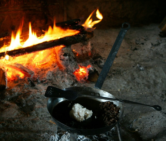 Cast iron cook ware can take the heat of an open campfire