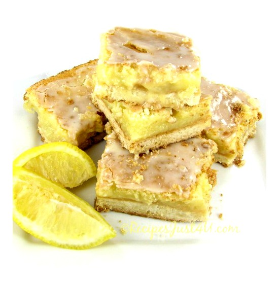 Sweet and tangy are the words to describe these glazed lemon bars.