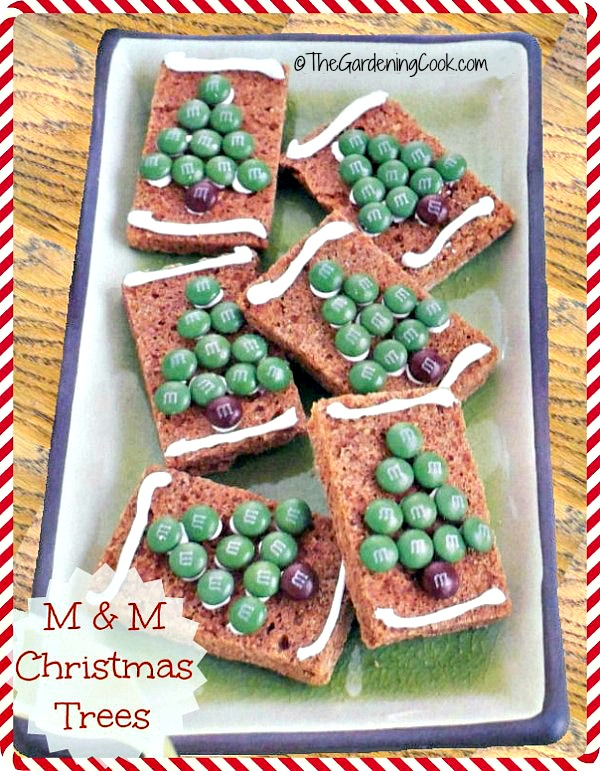 These M & M Christmas tree bars will be the hit of your holiday gathering.