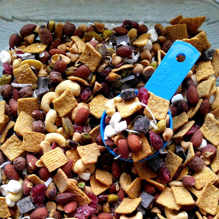Scoop of S'mores trail mix